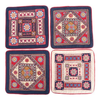 Ena De Silva Pillow Covers - Set of 4 For Sale