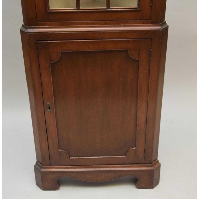This is a very nice mahogany corner cupboard in the federal style made in  USA. - Antique Federal Style Single Door Mahogany Corner Cupboard Chairish