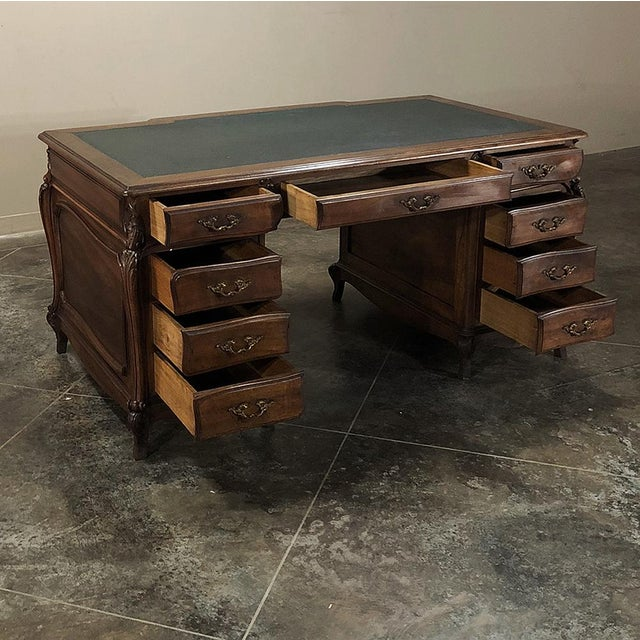 19th Century Louis XIV Walnut Partner's Desk For Sale - Image 11 of 13