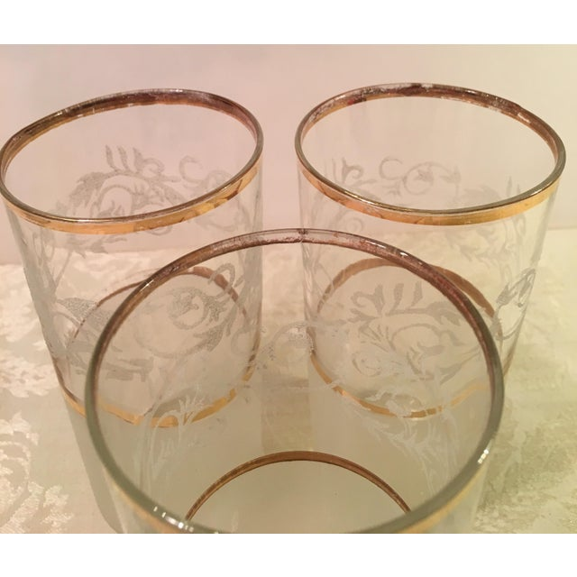 Mid-Century Frosted Highball Glasses - Set of 4 For Sale In Dallas - Image 6 of 8