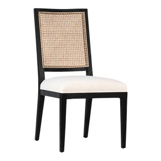 Black & Cane Dining Chair