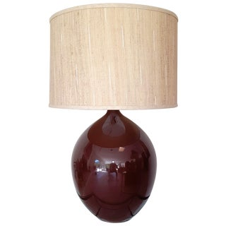 Brown Ceramic Teardrop Lamp
