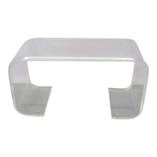 Thick Lucite Cocktail Table or Bench For Sale
