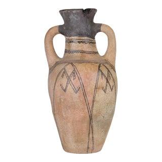 Antique Moroccan Terra Cotta Earthenware Vase-Medium For Sale