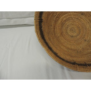 Large Vintage Woven Seagrass Ethnic Round African Basket Preview