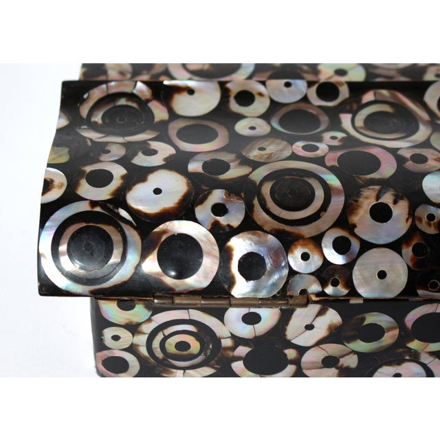 Black R & Y Augousti Paris Mother of Pearl & Wood Box, 90s For Sale - Image 8 of 10