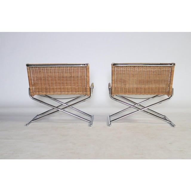 Brickel Associates Ward Bennett Brickel Sled Chairs For Sale - Image 4 of 11