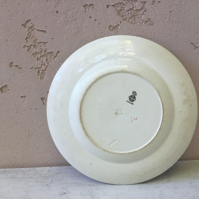 1900 - 1909 Large English Bird Plate Mintons, circa 1900 For Sale - Image 5 of 6