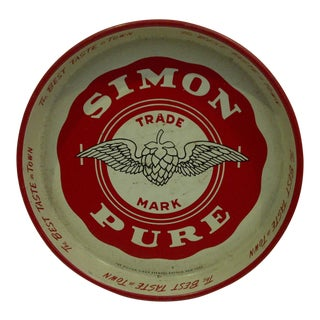 "Vintage ""Simon Pure Beer"" Serving Tray"