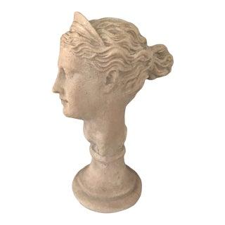 Vintage 1984 Grecian Diana Bust Signed & Stampted For Sale