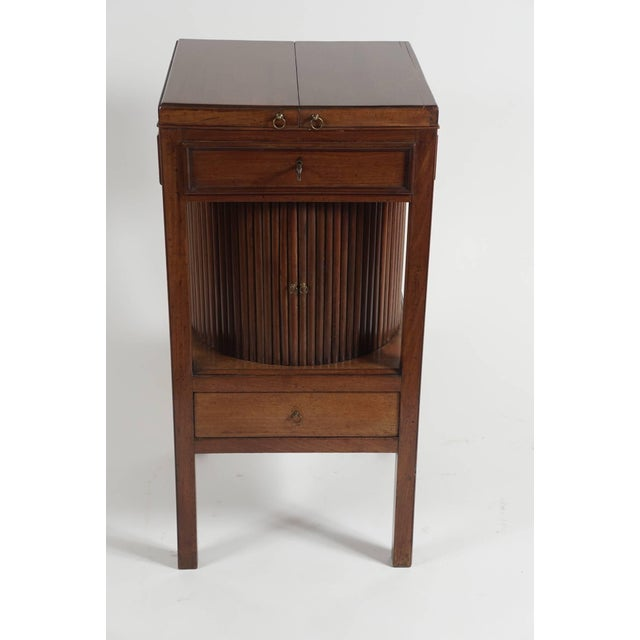 Mahogany Tambour Stand, England, Circa 1790 For Sale - Image 10 of 11