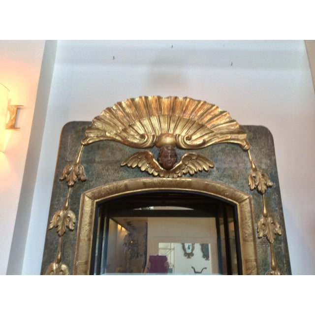 Open Mirrored & Giltwood Display Cabinet For Sale - Image 10 of 10