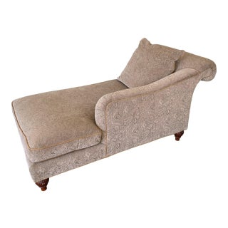 Baker Furniture Upholstered Chaise by Barbara Barry For Sale