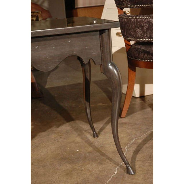 Paul Marra Customizable Paul Marra Cabriole Leg Table with Mirrored Top For Sale - Image 4 of 6