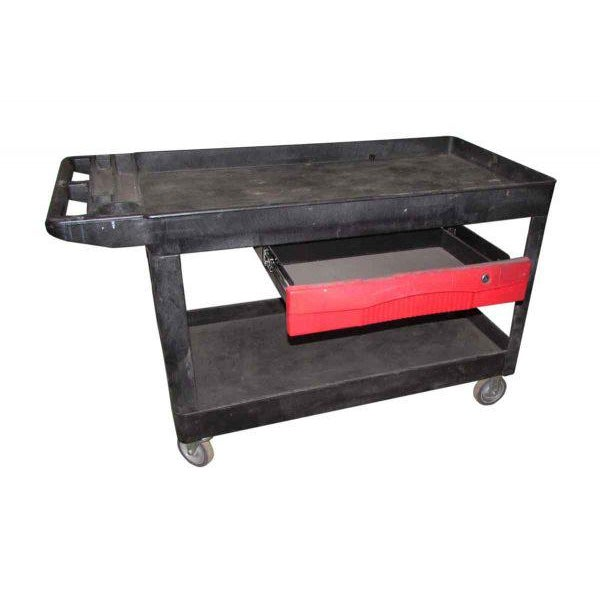 Industrial Plastic Cart With Drawer - Image 2 of 8