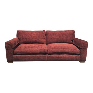 Zoffany Cheyne Red Upholstered Down Feather Sofa For Sale