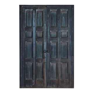 Monumental Bronze Classical Doors - a Pair For Sale