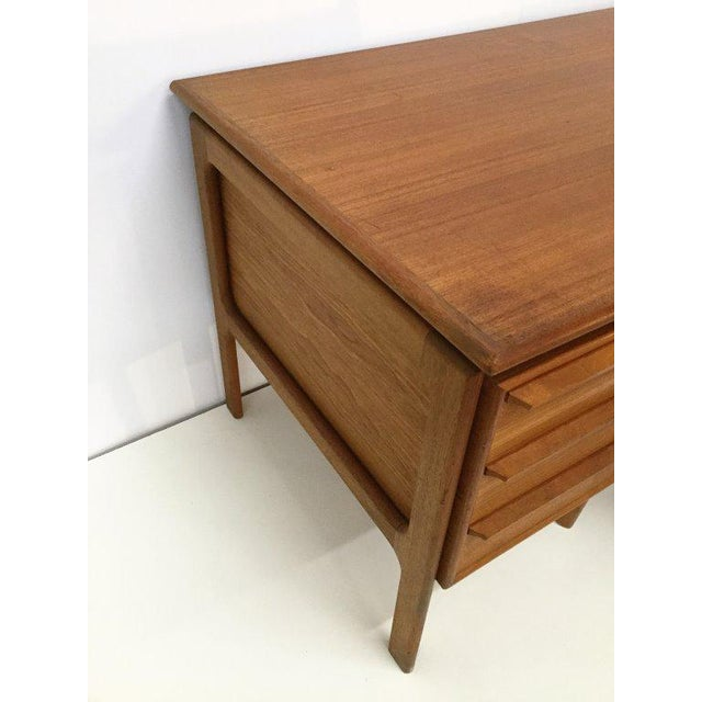 Danish Teak Double Pedestal Desk with Matching Chair For Sale In Los Angeles - Image 6 of 10