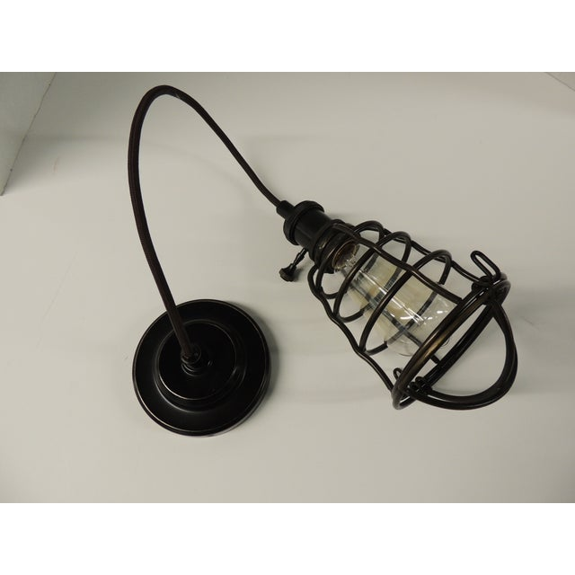 Formation Style Industrial Cage Pendant Light - Image 4 of 4