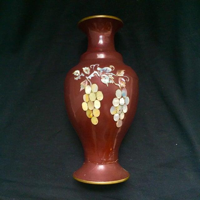 Ivory Mother Of Pearl Floor Vase In 2019: Vintage Korean Brass & Mother Of Pearl Vase
