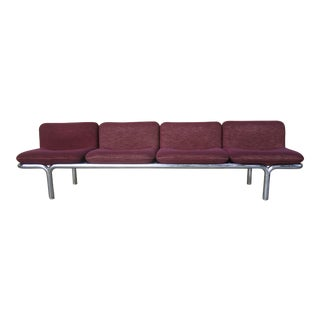 Mid Century Tubular Chrome Modular Slipper Sofa For Sale