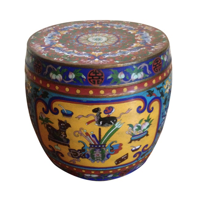 19th Century Chinese Cloisonne Garden Stool - Image 1 of 7