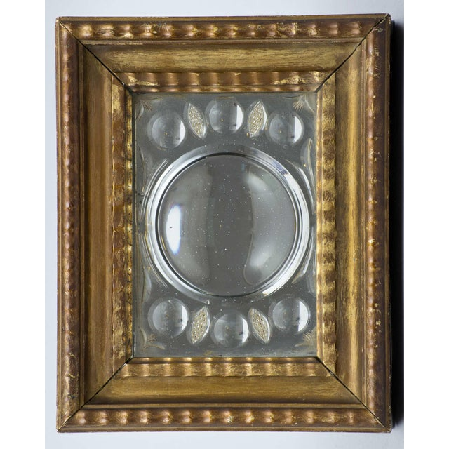Early 19th Century Antique Italian Cut-Glass Mirror in Gilded Frame For Sale - Image 5 of 5