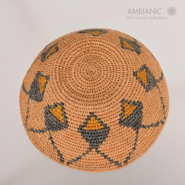 Natural Fiber Antique Native American Basket Bowl For Sale - Image 7 of 8