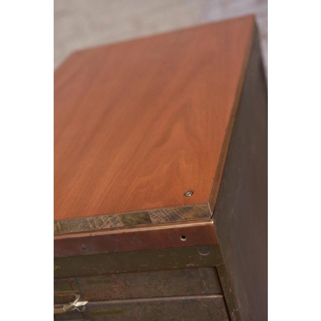 Mid-Century Modern 1940s Industrial Browne-Morse Filing Cabinet For Sale - Image 3 of 10