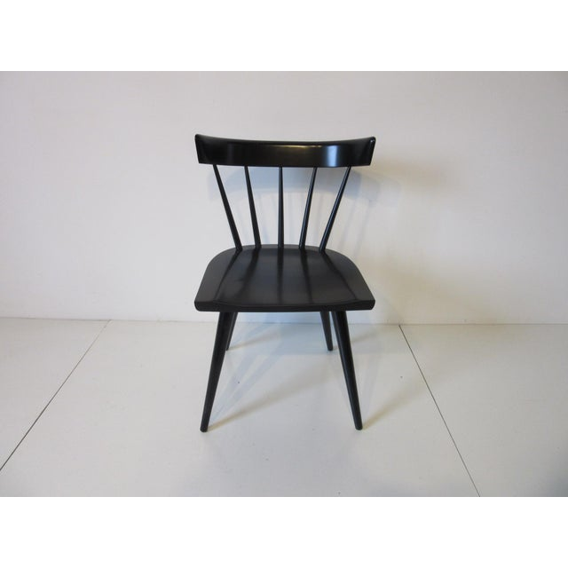 Planner Group Paul McCobb Planner Group Black Maple Spindle Back Dining Chairs - Set of 4 For Sale - Image 4 of 8