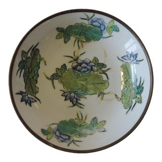 Vintage Imari Japanese Green and Blue Decorative Plate For Sale