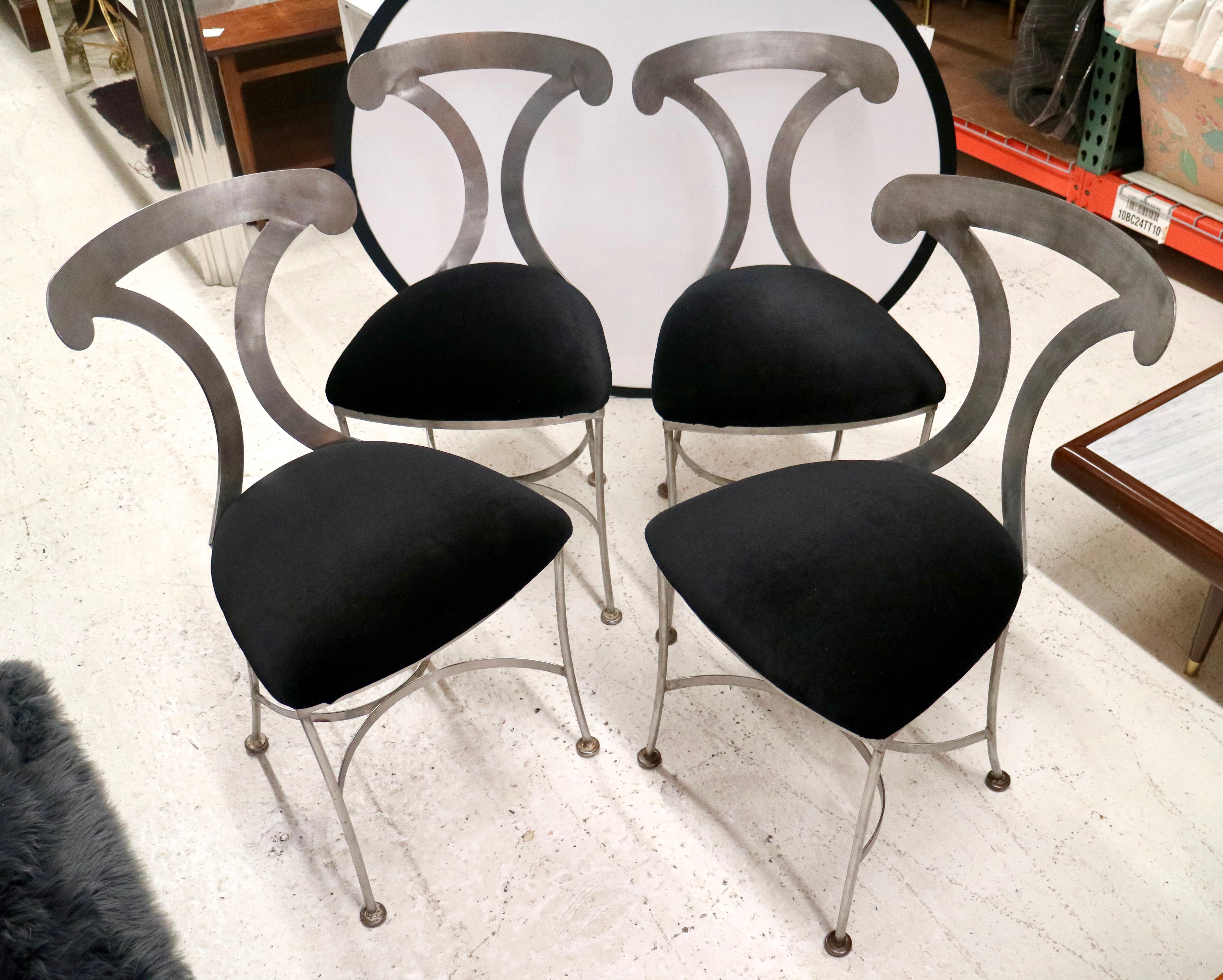Delightful Shaver Howard Metal Dining Chairs   Set Of 4   Image 11 Of 11
