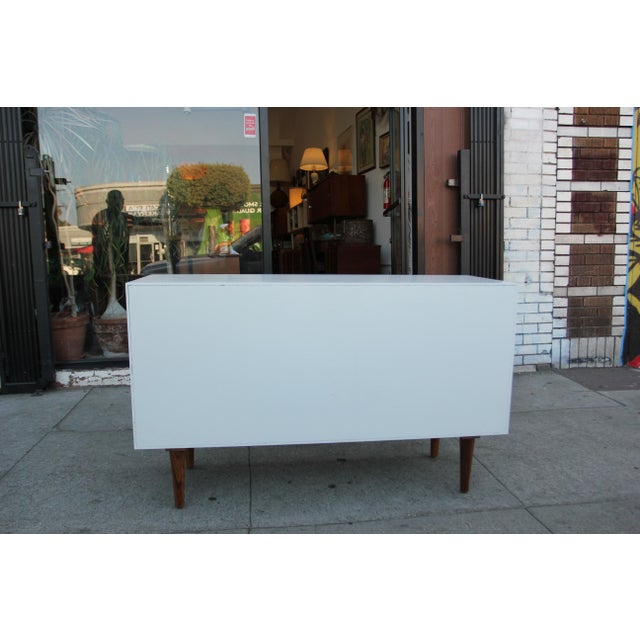 While Lacquered Credenza For Sale - Image 4 of 13