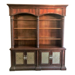 Dark Wood Shelving Hutch