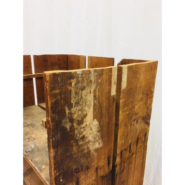 Brown Antique Wood Factory Cart For Sale - Image 8 of 11