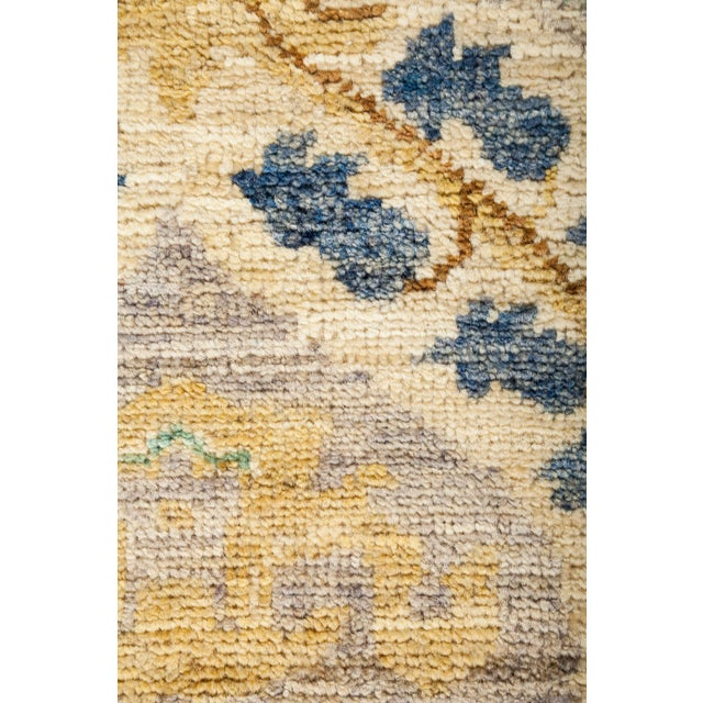 "Suzani Hand Knotted Area Rug - 6' 4"" X 8' 8"" - Image 3 of 4"