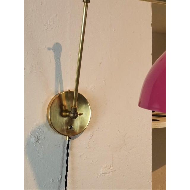 Blueprint Lighting Italian Modern Brass & Enamel Sconce *Custom Colors* For Sale In New York - Image 6 of 8