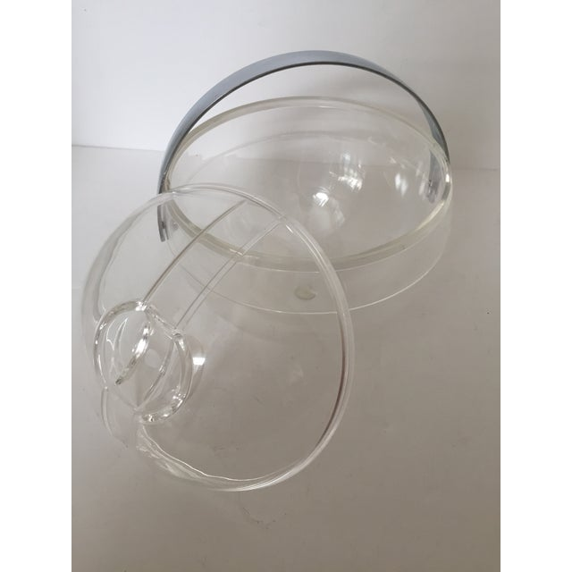 Guzzini Lucite Ball Ice Bucket For Sale In West Palm - Image 6 of 7