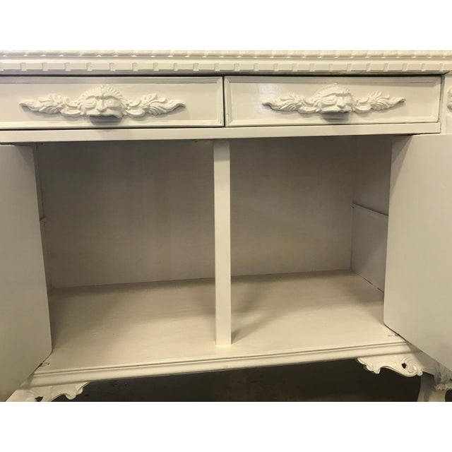 White Lacquered Modern Refurbished Side Board or Console - Image 6 of 7