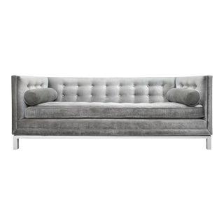 Jonathan Adler Charcoal Velvet W/ White Maple Base Lampert Sofa