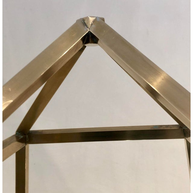 1960s Brass Italian Obelisk Shaped Etageres - a Pair For Sale In West Palm - Image 6 of 12