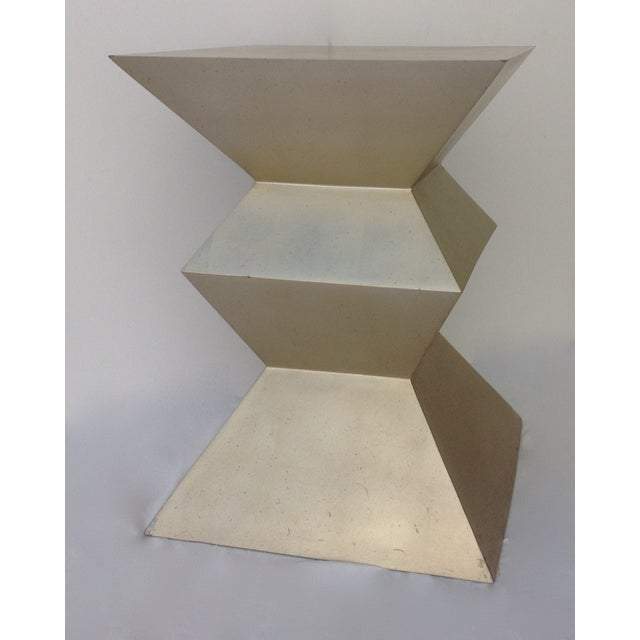 Sirmos Sirmos Silver-Leaf Cubist Dining Table Base For Sale - Image 4 of 11
