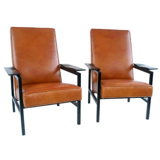 Vintage Mid Century Steiner Guariche Motte Mortier Model 642 Chairs- a Pair For Sale