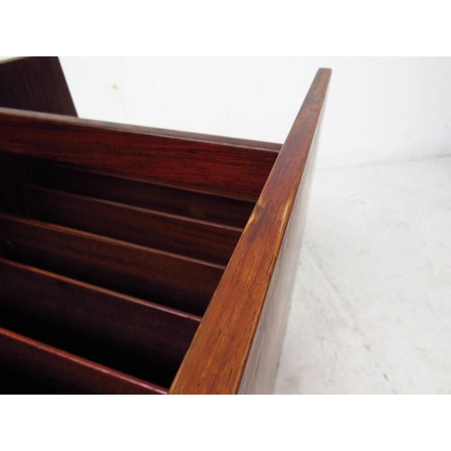 Mid-century Modern Rosewood Magazine Cart by Bruksbo For Sale - Image 5 of 9