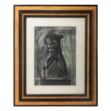 Image of Charcoal Drawing of Male Torso For Sale