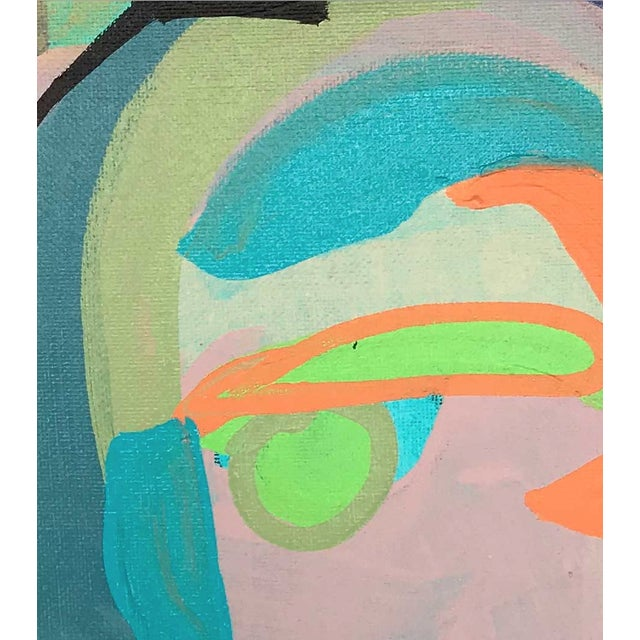 "Early 21st Century Contemporary Abstract Portrait Painting ""Let's Chat, No. 2"" For Sale - Image 5 of 7"