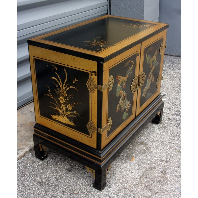Vintage Asian Style Cabinet With Brass Hardware - Image 4 of 11