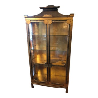 Gilded Pagoda Cabinet For Sale