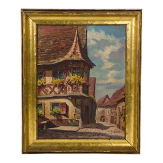 Late 19th Century Antique V. Radaelli Signed Oil on Canvas Painting For Sale