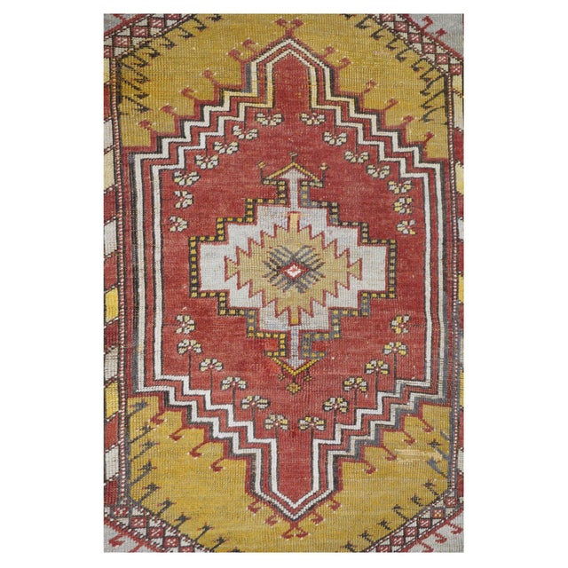 Vintage Turkish Rug - 3′5″ × 5′3″ - Image 2 of 4